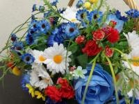 Корзина с цветами  ПК – 0006